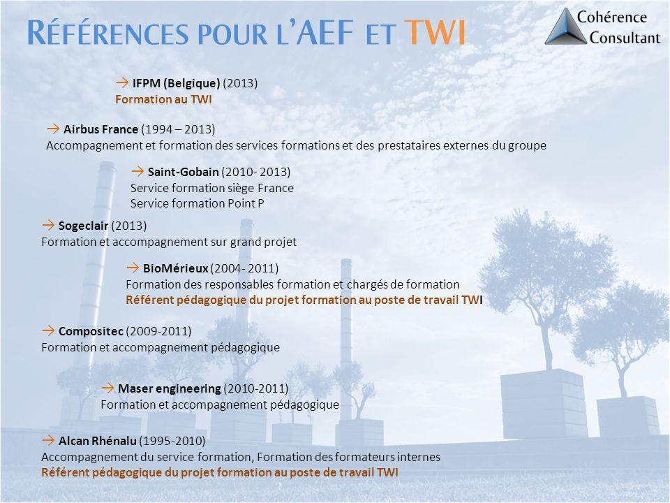 Références pour l'AEF et TWI
