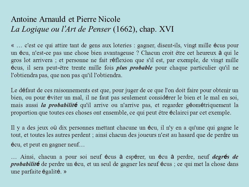 Antoine Arnauld et Pierre Nicole