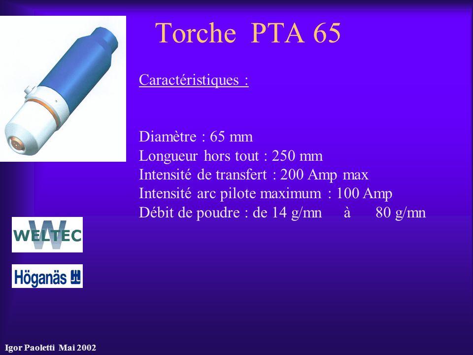 Torche PTA 65 Caractéristiques : Diamètre : 65 mm