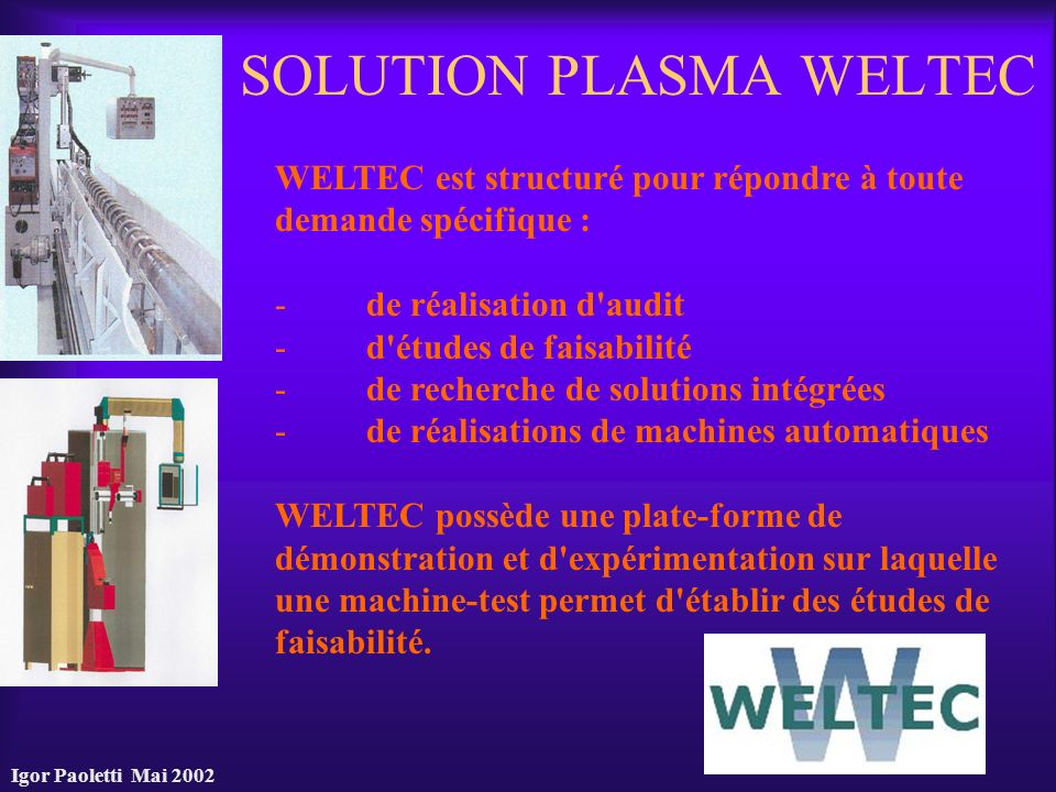 SOLUTION PLASMA WELTEC