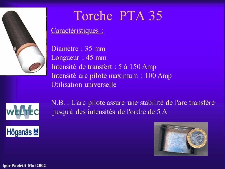 Torche PTA 35 Caractéristiques : Diamètre : 35 mm Longueur : 45 mm