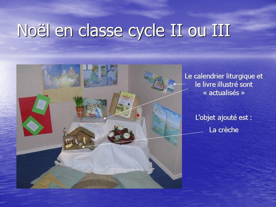 Noël en classe cycle II ou III