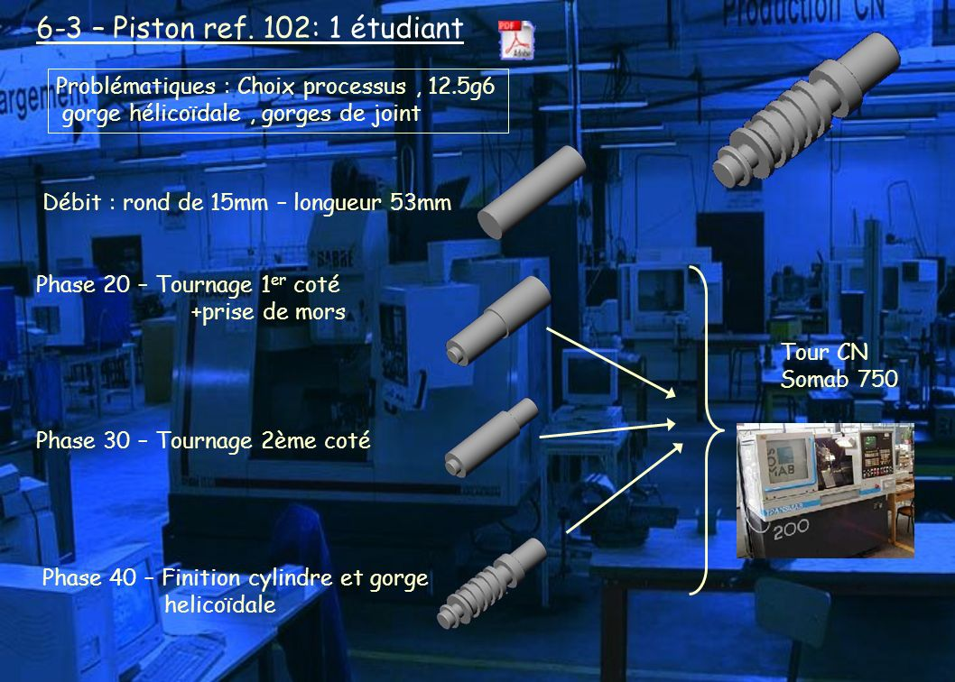 6-3 – Piston ref. 102: 1 étudiant