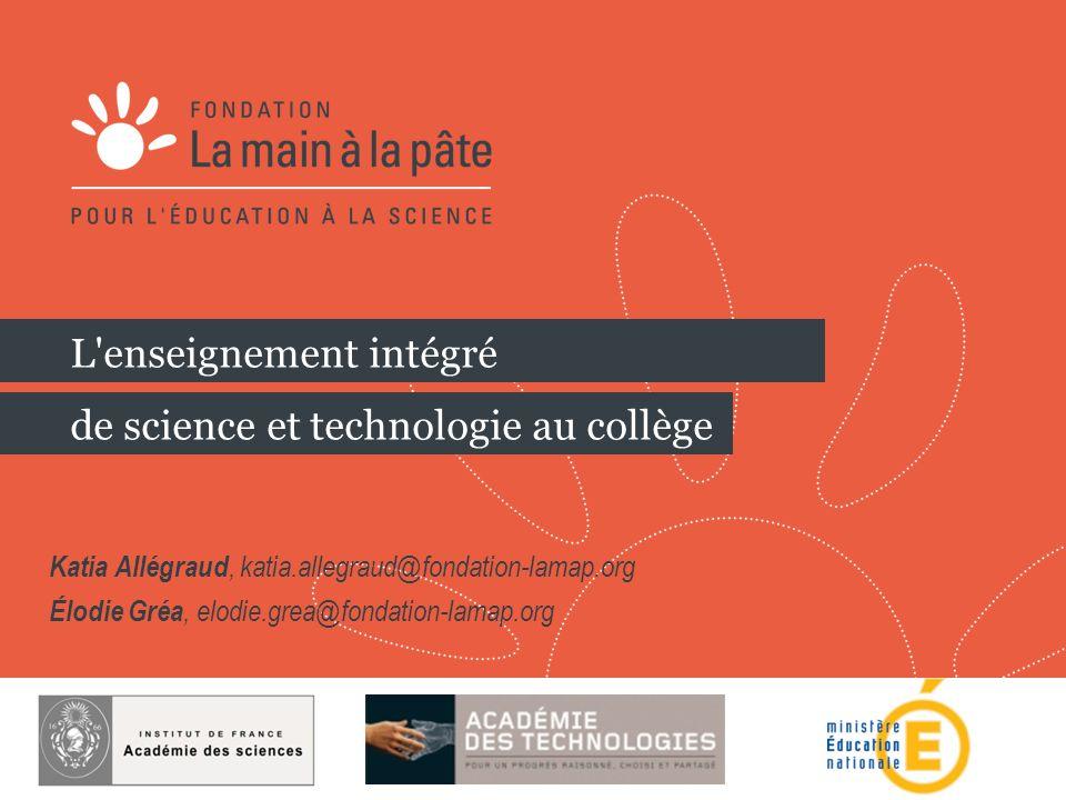 L enseignement intégré de science et technologie au collège