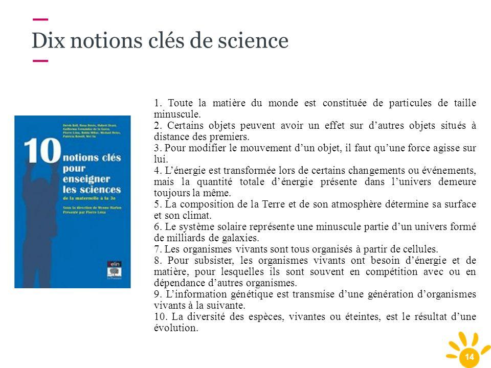 Dix notions clés de science