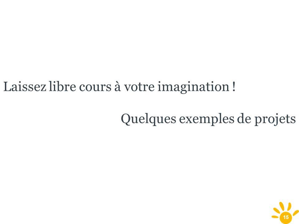 Laissez libre cours à votre imagination !