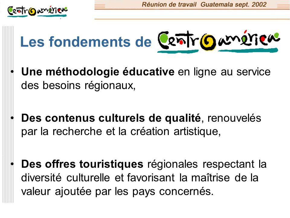 Les fondements de Une méthodologie éducative en ligne au service des besoins régionaux,