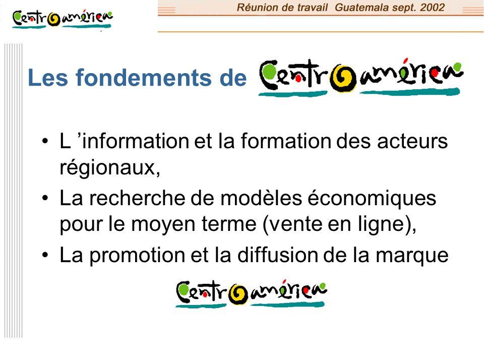 Les fondements de L 'information et la formation des acteurs régionaux, La recherche de modèles économiques pour le moyen terme (vente en ligne),