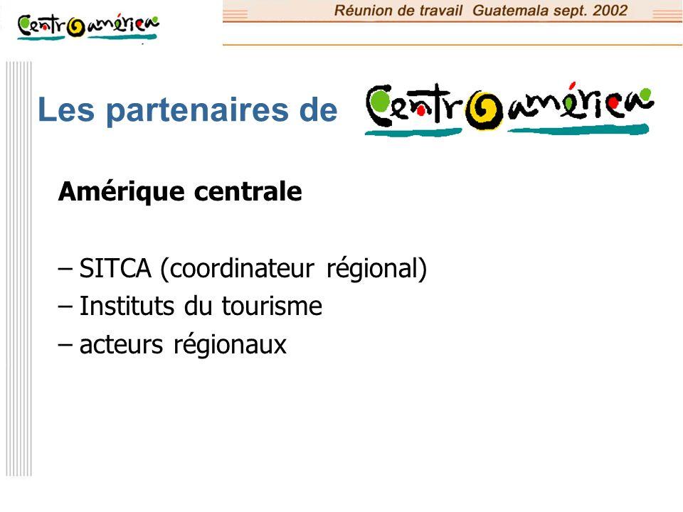 Les partenaires de Amérique centrale SITCA (coordinateur régional)
