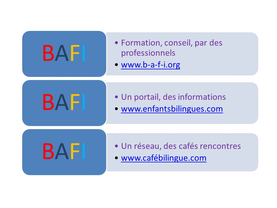 Formation, conseil, par des professionnels www.b-a-f-i.org