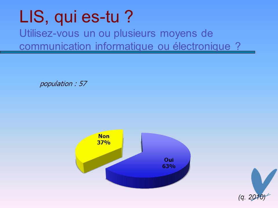 LIS, qui es-tu Utilisez-vous un ou plusieurs moyens de communication informatique ou électronique