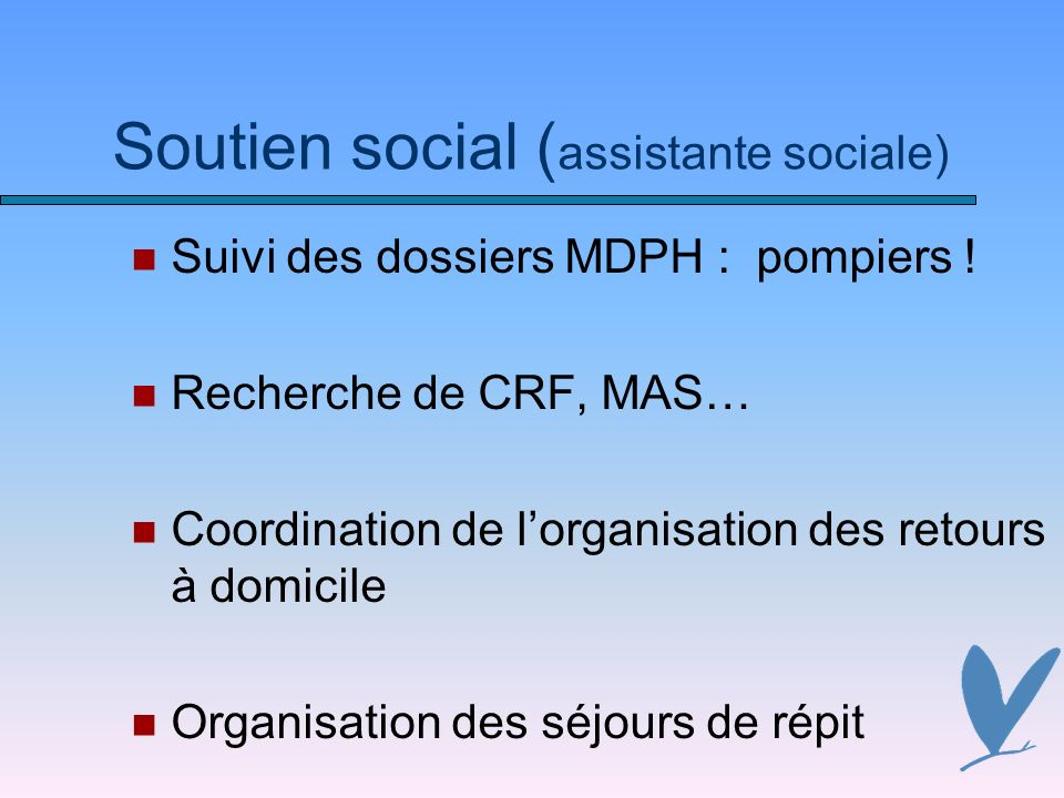 Soutien social (assistante sociale)