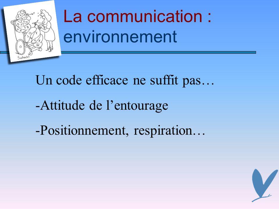 La communication : environnement