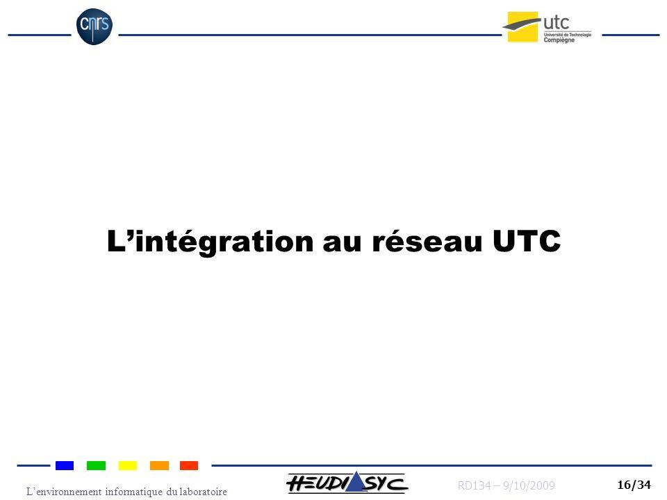 L'intégration au réseau UTC