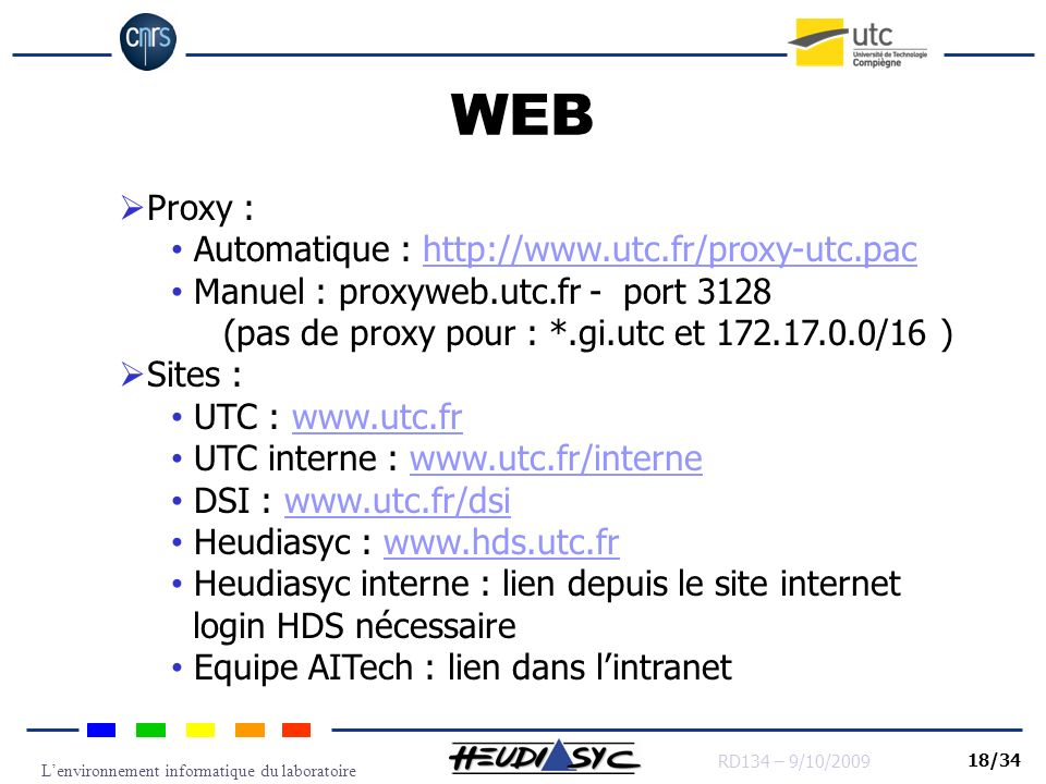 WEB Proxy : Automatique : http://www.utc.fr/proxy-utc.pac