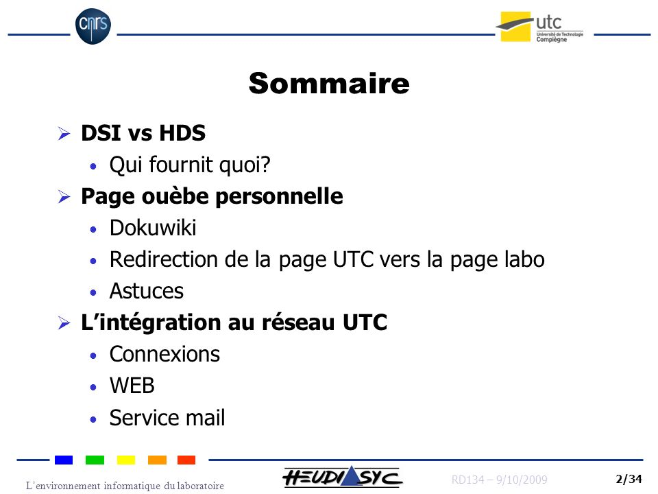 Sommaire DSI vs HDS Qui fournit quoi Page ouèbe personnelle Dokuwiki