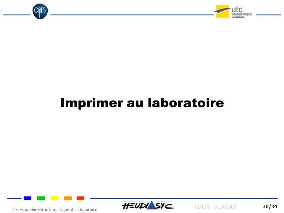 Imprimer au laboratoire
