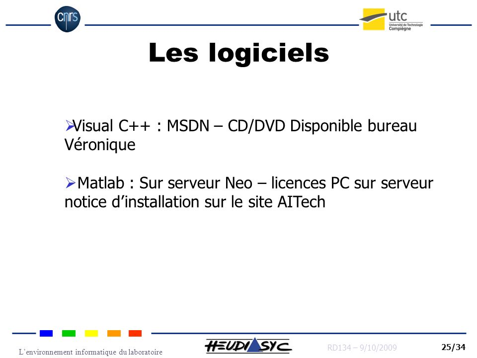 Les logiciels Visual C++ : MSDN – CD/DVD Disponible bureau Véronique