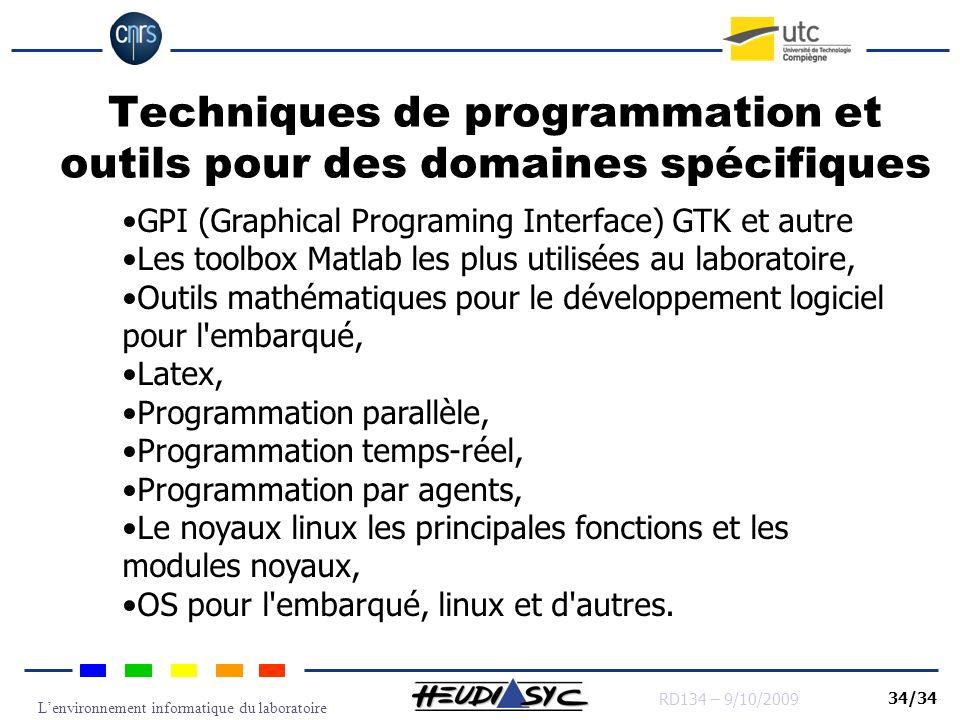 Techniques de programmation et outils pour des domaines spécifiques