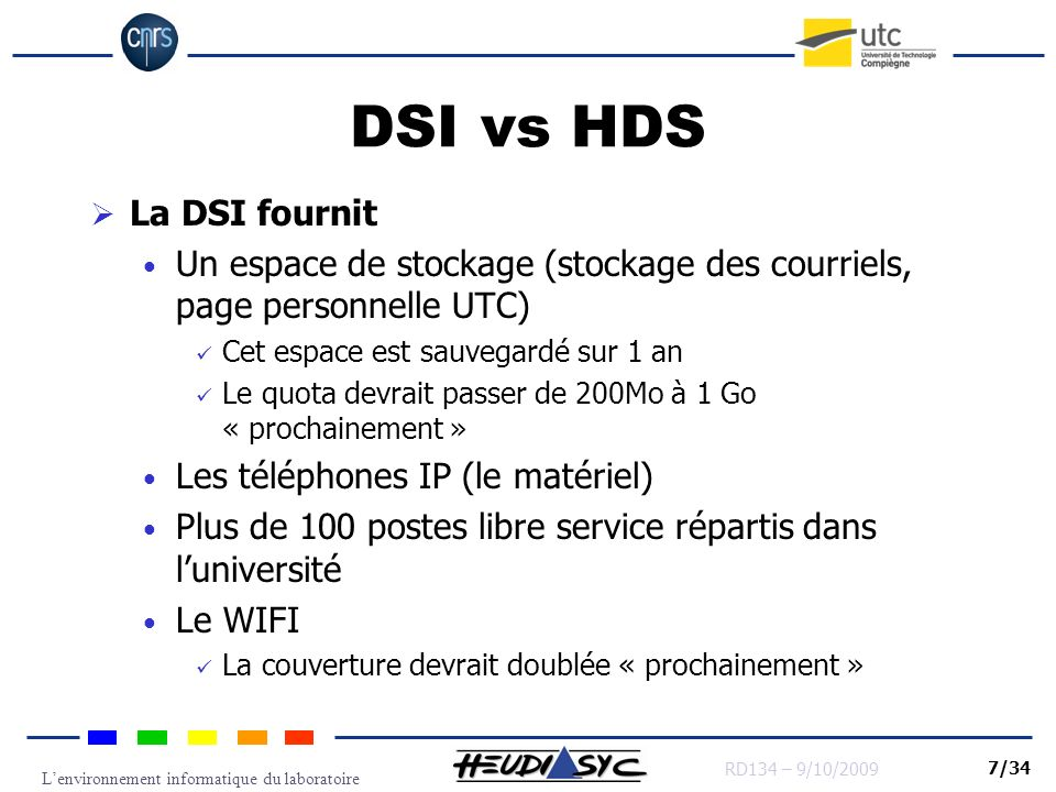 DSI vs HDS La DSI fournit