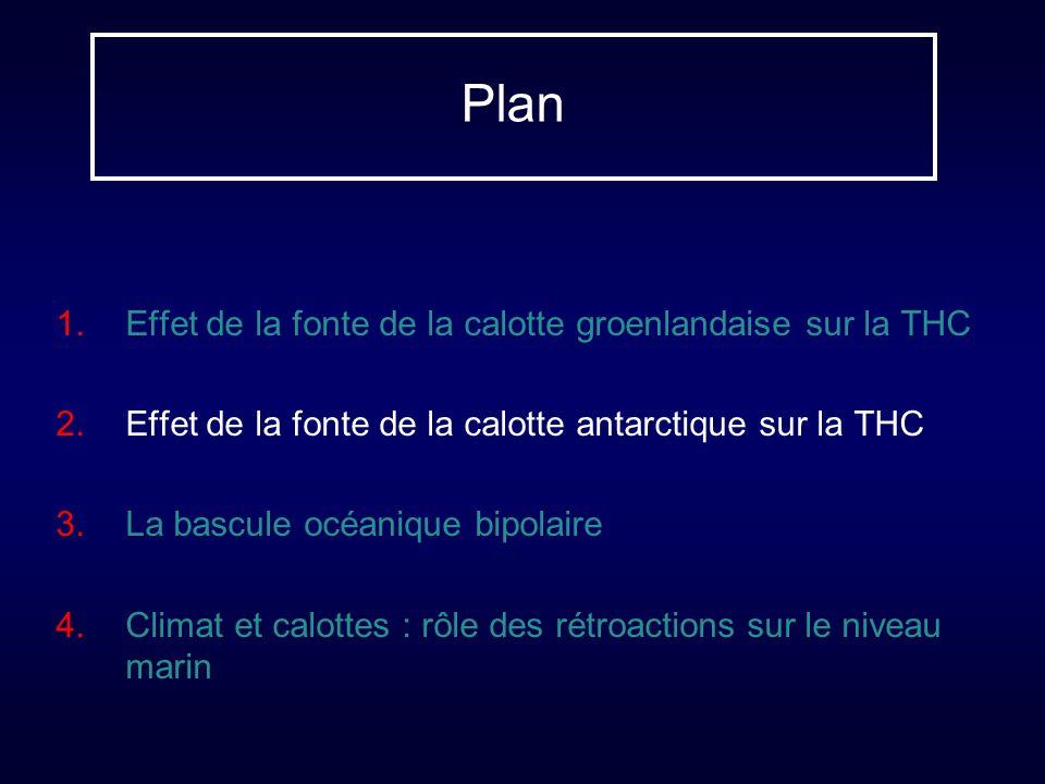 Plan Effet de la fonte de la calotte groenlandaise sur la THC