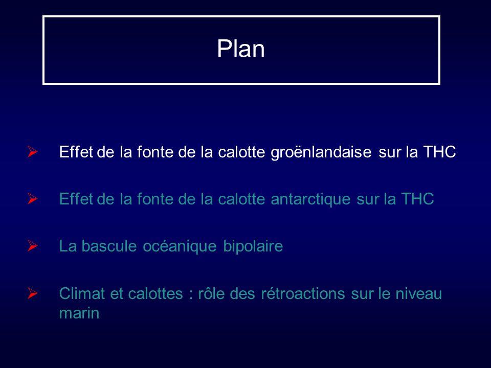 Plan Effet de la fonte de la calotte groënlandaise sur la THC