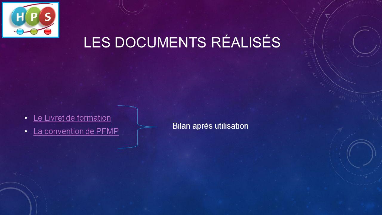 Les documents réalisés