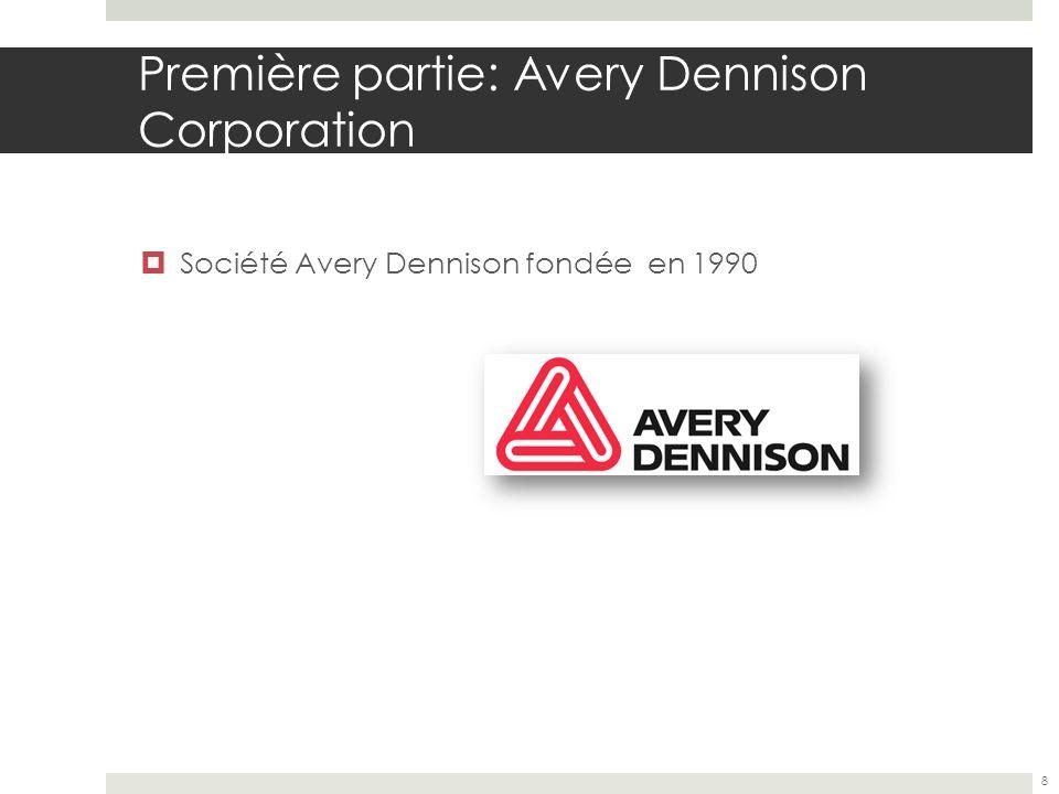 Première partie: Avery Dennison Corporation