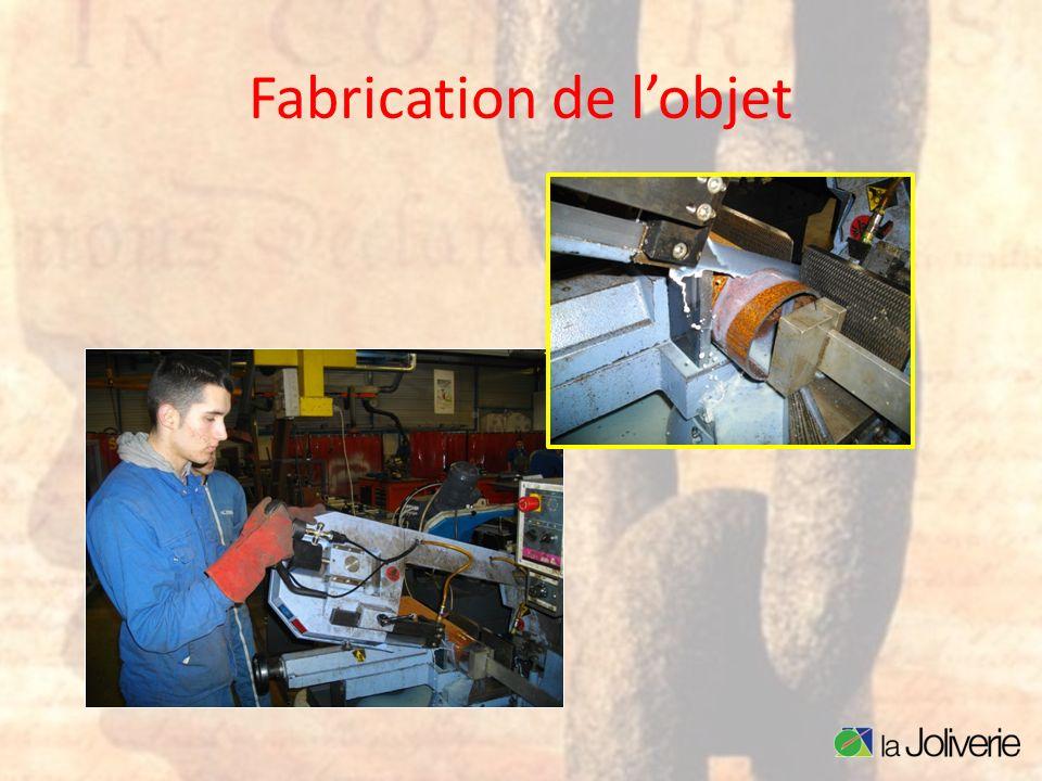 Fabrication de l'objet