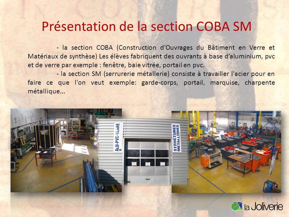 Présentation de la section COBA SM