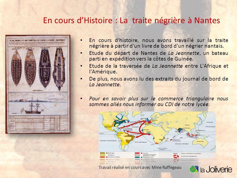 En cours d'Histoire : La traite négrière à Nantes