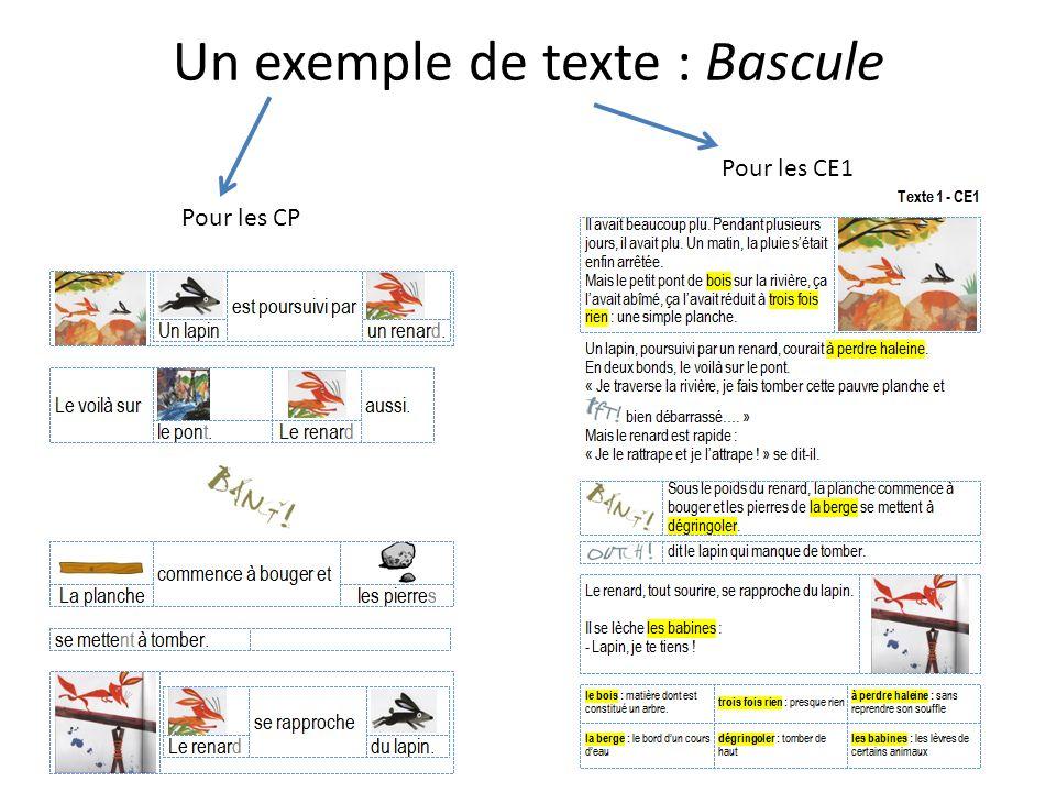 Un exemple de texte : Bascule