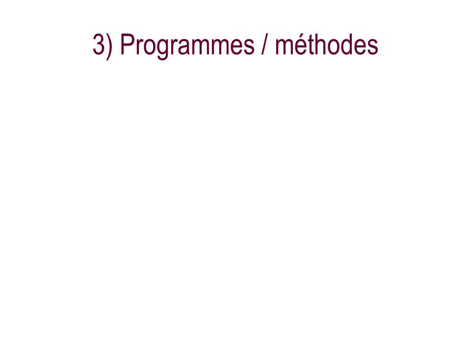 3) Programmes / méthodes