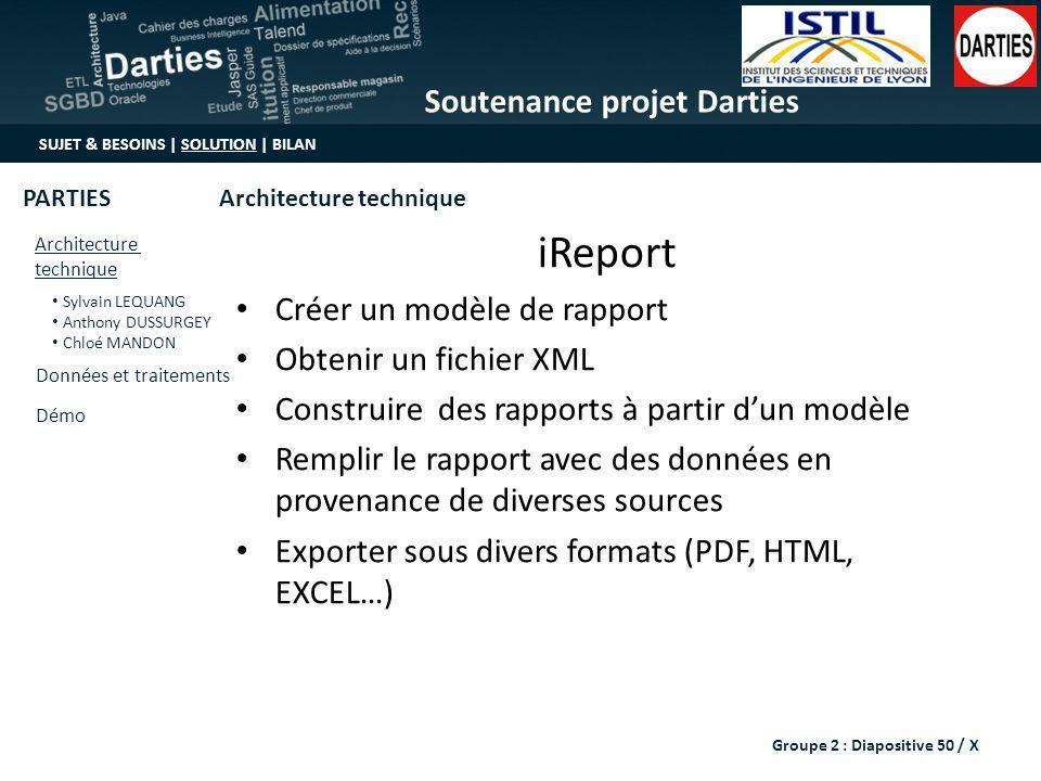 iReport Créer un modèle de rapport Obtenir un fichier XML