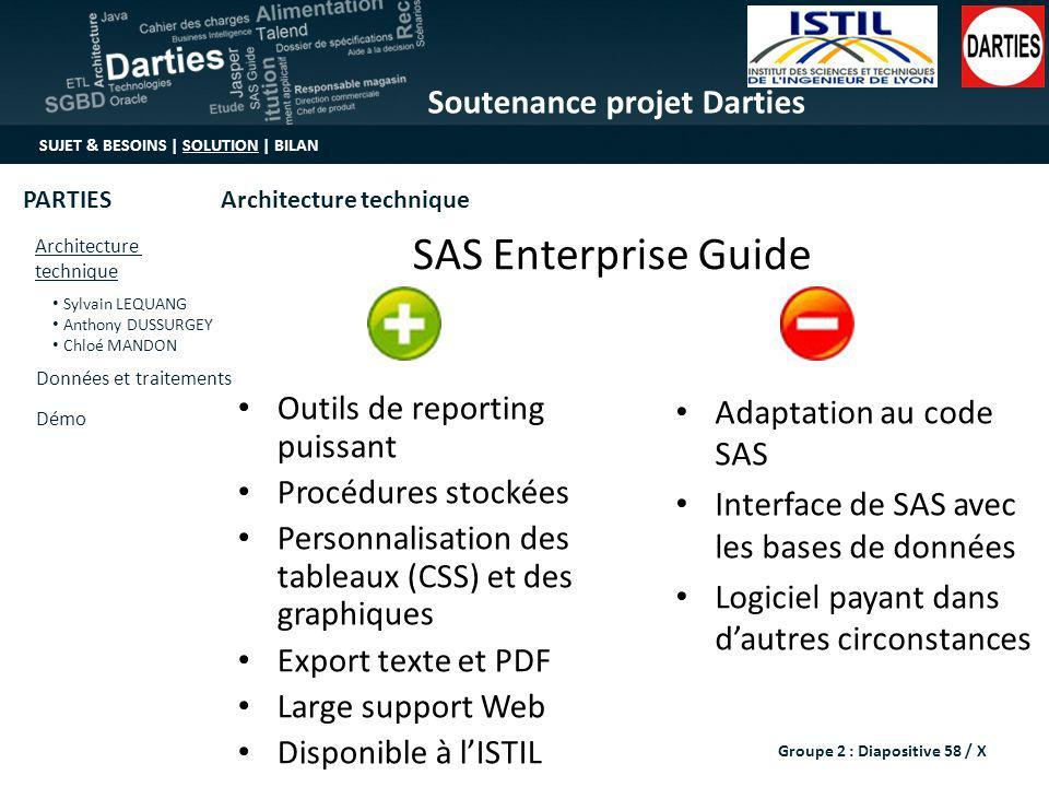 SAS Enterprise Guide Outils de reporting puissant Procédures stockées
