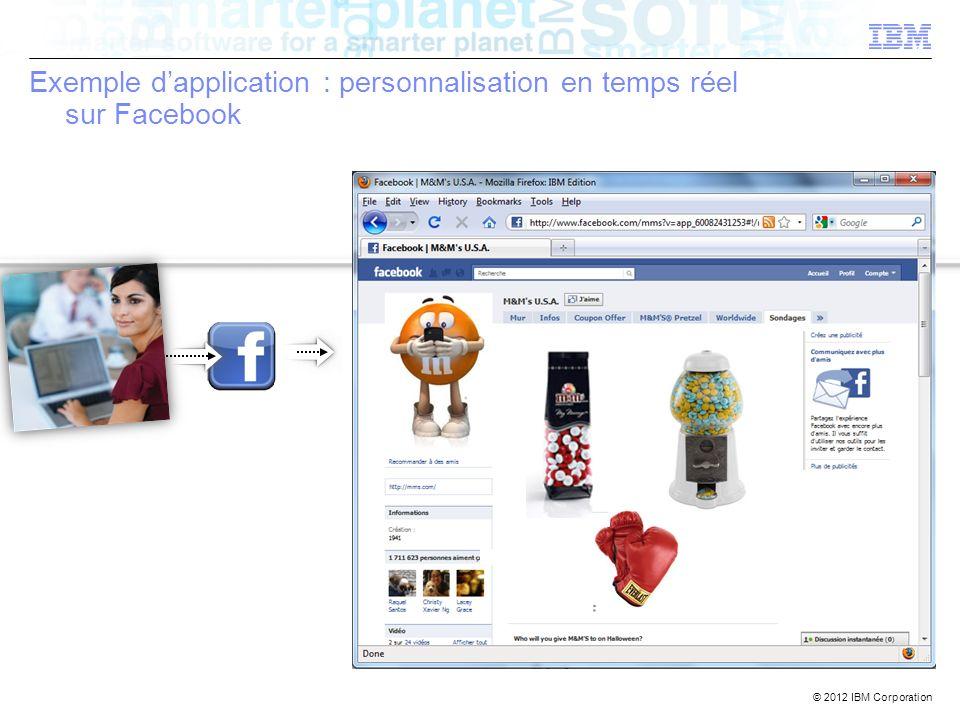 Exemple d'application : personnalisation en temps réel sur Facebook