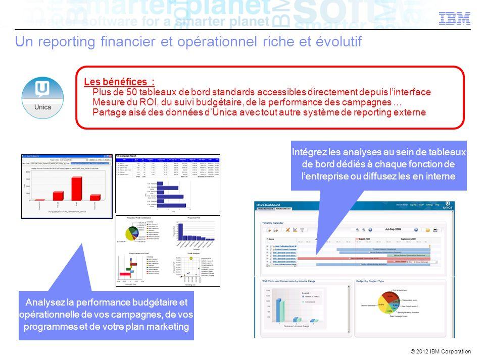 Un reporting financier et opérationnel riche et évolutif