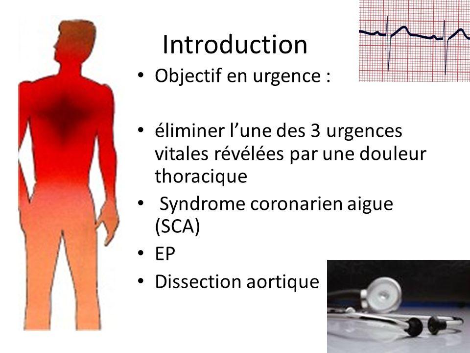 Introduction Objectif en urgence :