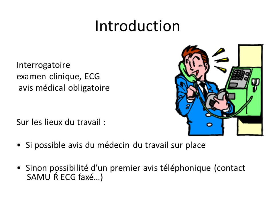 Introduction Interrogatoire examen clinique, ECG