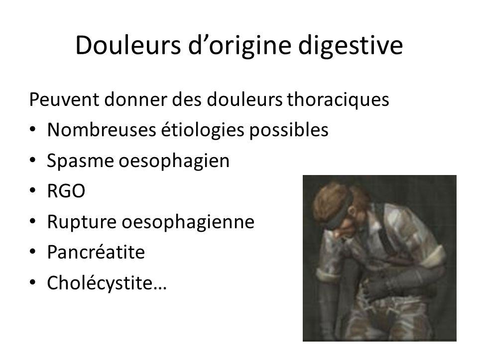 Douleurs d'origine digestive