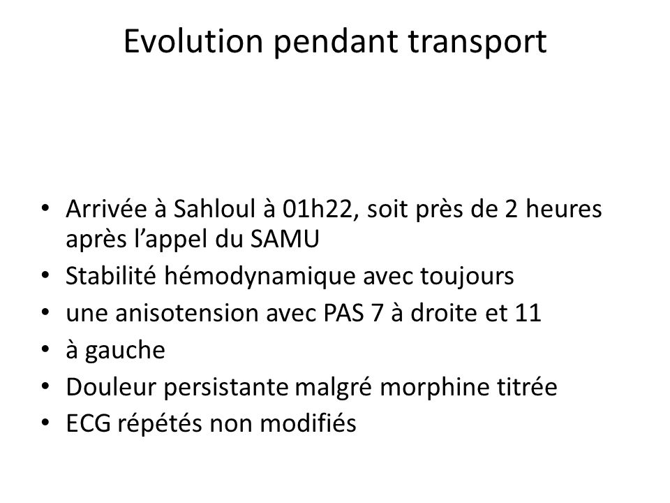 Evolution pendant transport