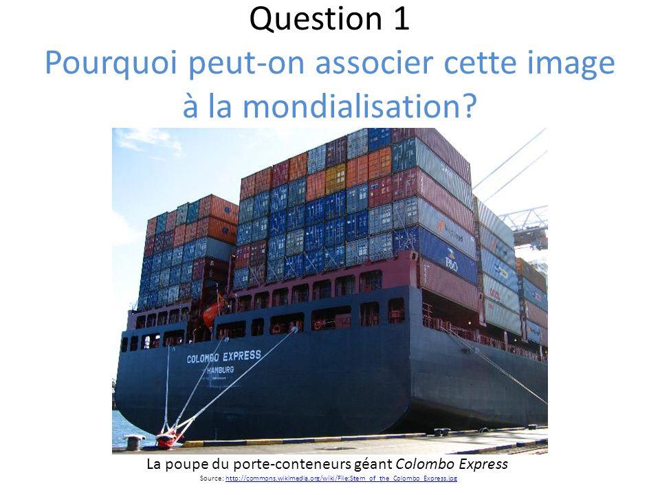 Question 1 Pourquoi peut-on associer cette image à la mondialisation
