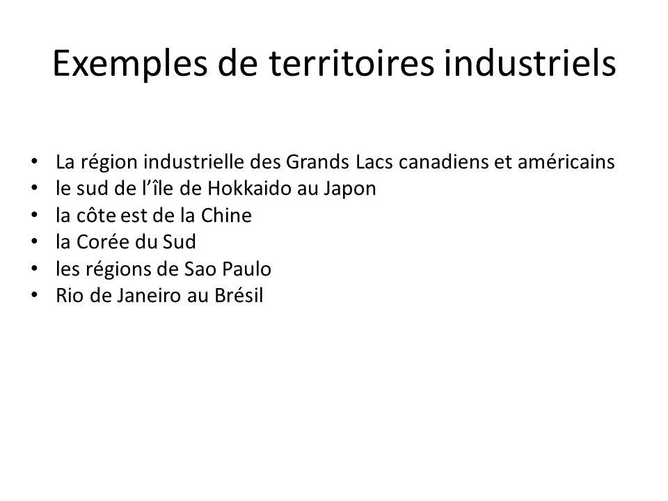 Exemples de territoires industriels