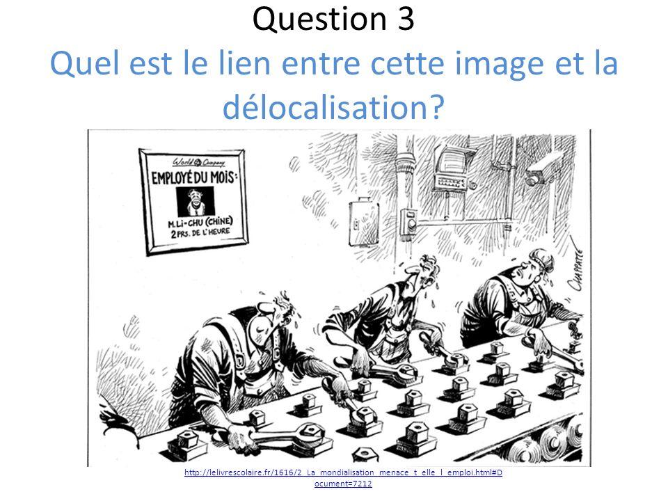 Question 3 Quel est le lien entre cette image et la délocalisation