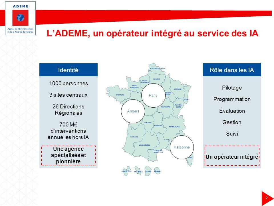 L'ADEME, un opérateur intégré au service des IA