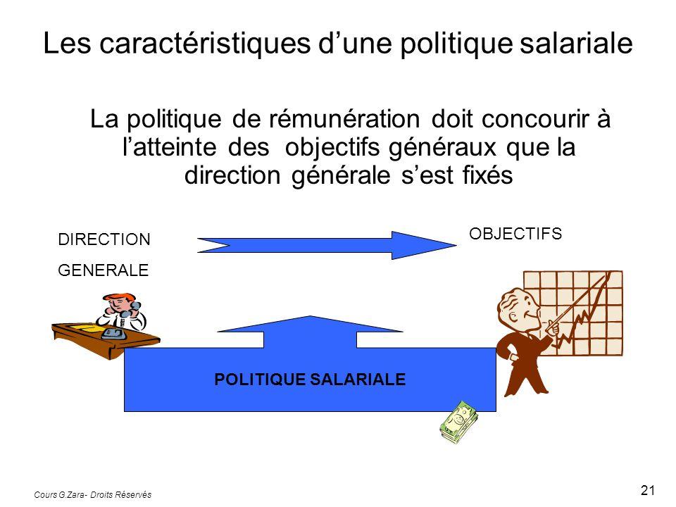 Les caractéristiques d'une politique salariale