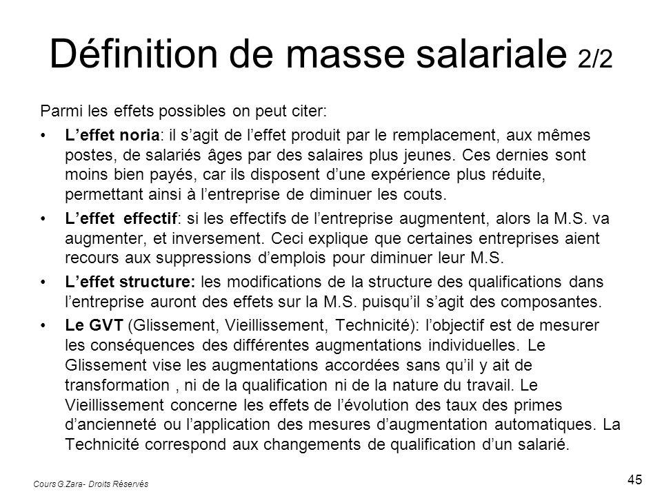 Définition de masse salariale 2/2