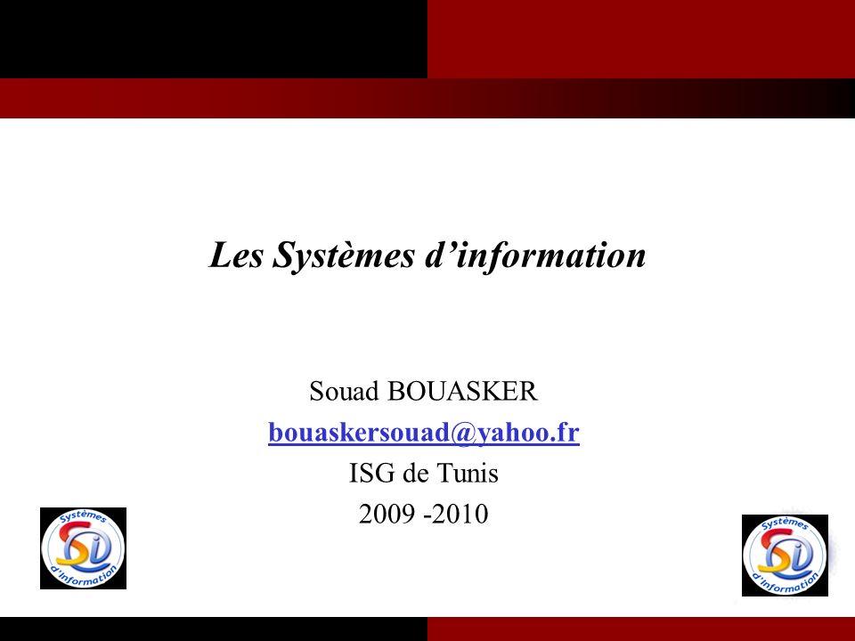 Les Systèmes d'information