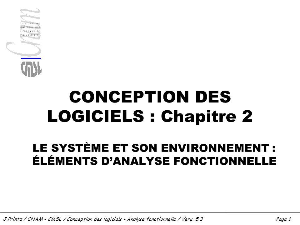 CONCEPTION DES LOGICIELS : Chapitre 2