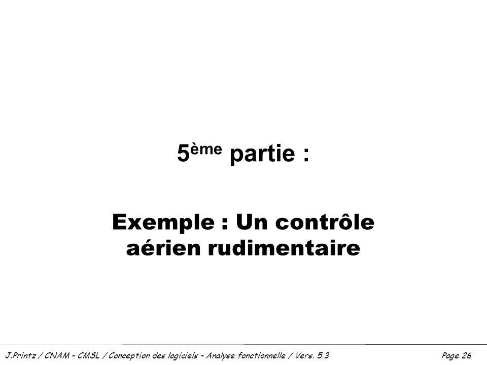Exemple : Un contrôle aérien rudimentaire